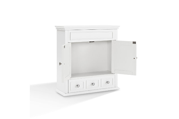 Wall Organizer Cabinet, White, large