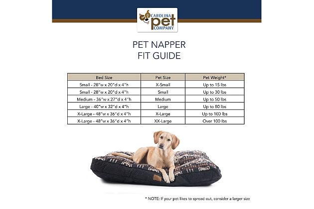 Pendleton Badlands National Park Medium Pet Bed, Navy, large