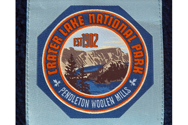 Pendleton Crater Lake National Park Small Pet Bed, Blue, large