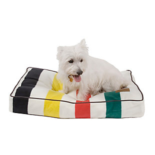 Pendleton Glacier National Park Small Pet Bed, White, rollover