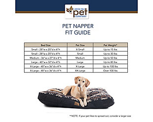 Pendleton Glacier National Park Large Pet Bed, White, large