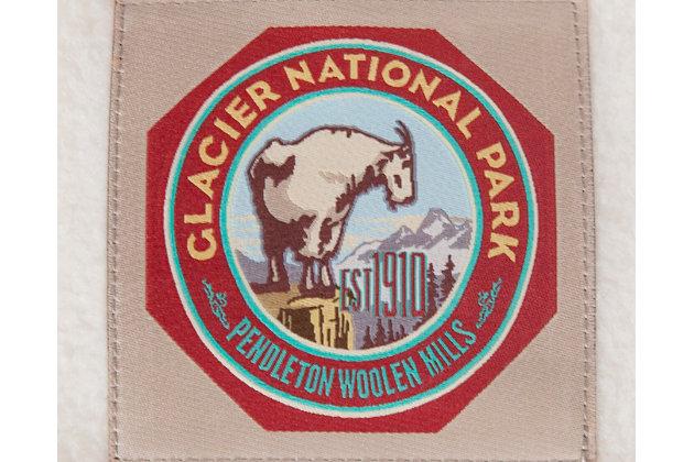 Pendleton Glacier National Park X-Large Pet Bed, White, large