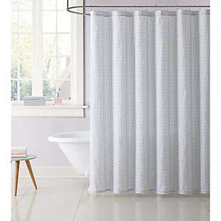Gingham Shower Curtain, , large