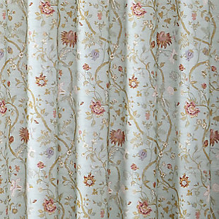 Floral Print Shower Curtain, , large
