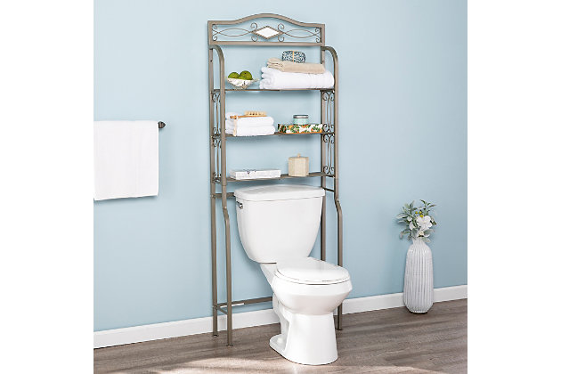Metal Scroll Over the Toilet Spacesaver, , large