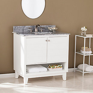 Gray Marble Bathroom Vanity and Sink, , rollover
