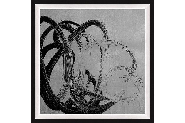 Giclee Silver Freeform Wall Art, , large