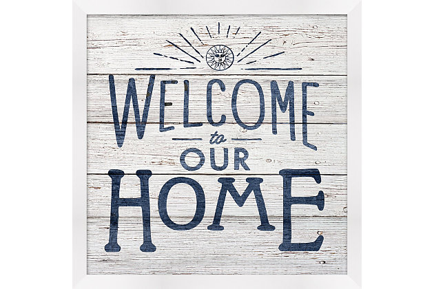 Giclee Welcome to Our Home Wall Art, , large