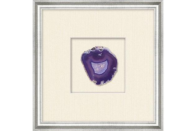 Shadowbox Purple Agate Slice Wall Art, , large