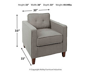 Cadenita Square Arm Tufted Upholstered Club Chair, , large