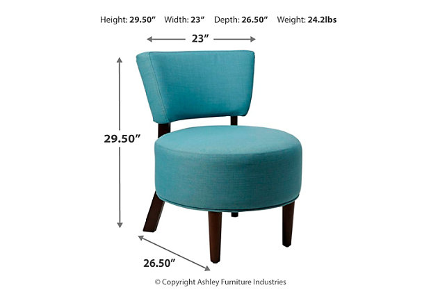 Carlisley Modern Armless Occasional Chair with Round Seat, , large