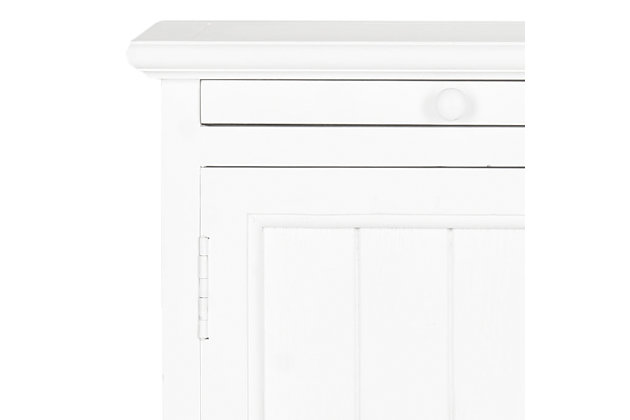 Wooden Storage Cabinet with Pull Out Tray, White, large