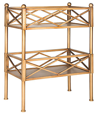Gold Leaf Finish Storage Shelves, , large