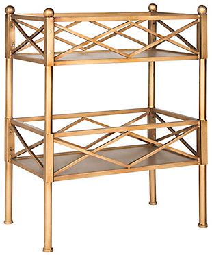 Gold Leaf Finish Storage Shelves, , large