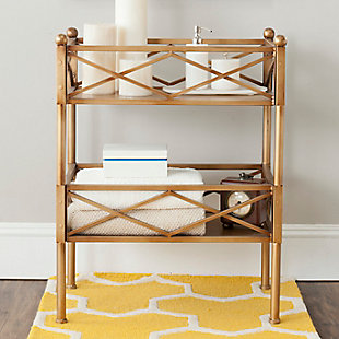 Gold Leaf Finish Storage Shelves, , rollover