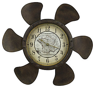 Home Accents Propeller Wall Clock, , large