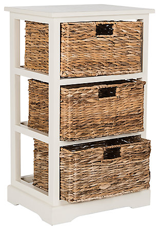 Three Tiered Basket Storage Shelf, , large