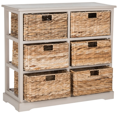 Six Tiered Basket Storage Chest, Vintage Gray, large