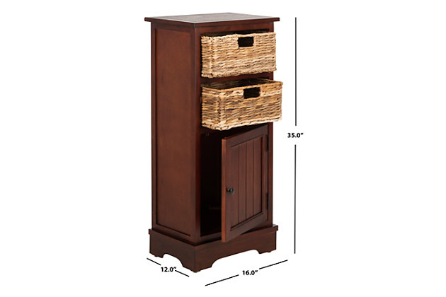 Floor Storage Cabinet, Red, large