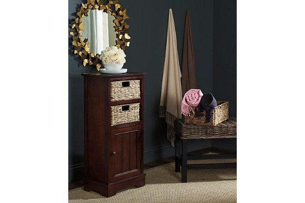 Floor Storage Cabinet, Red, large