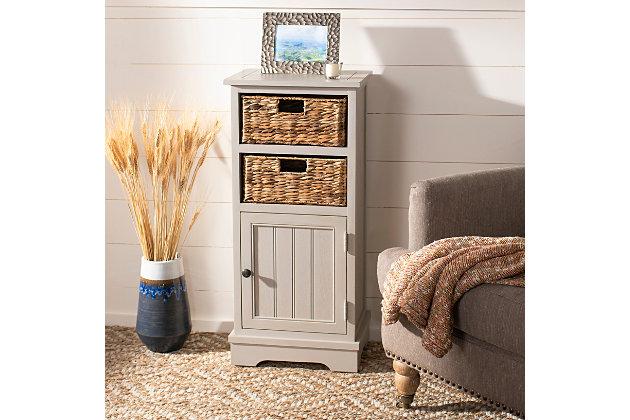 Floor Storage Cabinet, Vintage Gray, large