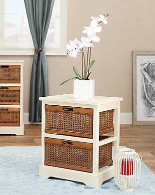 Rattan 2 Drawer Storage Cabinet, , rollover