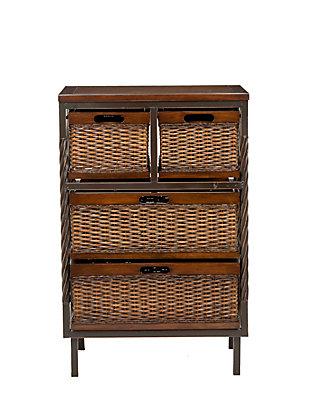 Wicker 4 Drawer Storage Cabinet, , rollover
