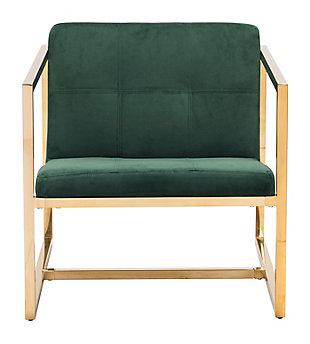 Modern Velvet Accent Chair, Green, large
