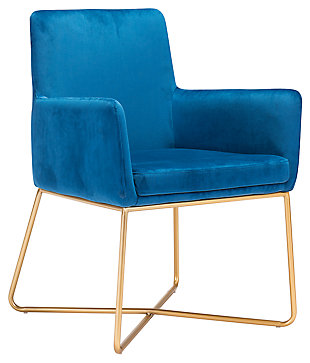 Modern Velvet Accent Chair, , large