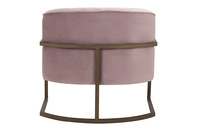 Modern Velvet Accent Chair, Pink, large
