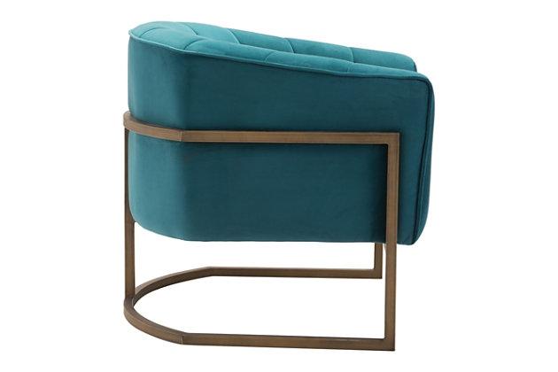 Modern Velvet Accent Chair, , large