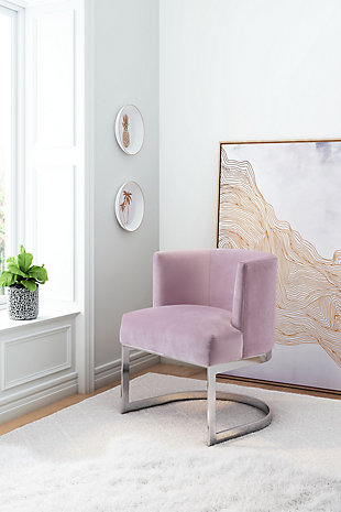 Modern Velvet Accent Chair, , rollover
