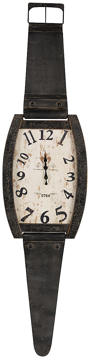 Home Accents Watch Shaped Wall Clock, , large
