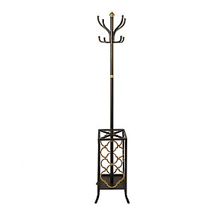 Leti Metal Coat Rack and Umbrella Holder, , large