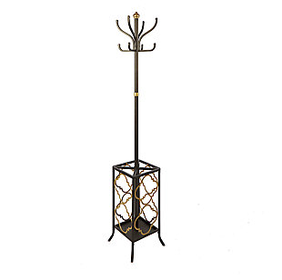 Leti Metal Coat Rack and Umbrella Holder, , large
