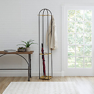 Luxus Metal Coat Rack with Golden Quatrefoil Umbrella Stand, , rollover
