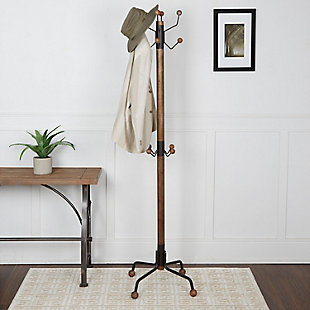 Duver Modern 12 Hook Coat Rack, , rollover