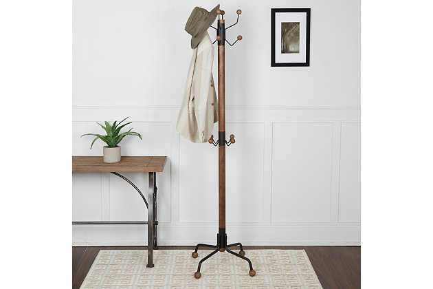 Duver Modern 12 Hook Coat Rack, , large