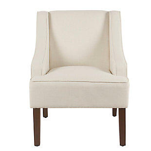 Classic Swoop Arm Accent Chair, Cream, rollover
