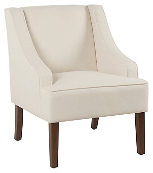 Classic Swoop Arm Accent Chair, Cream, large