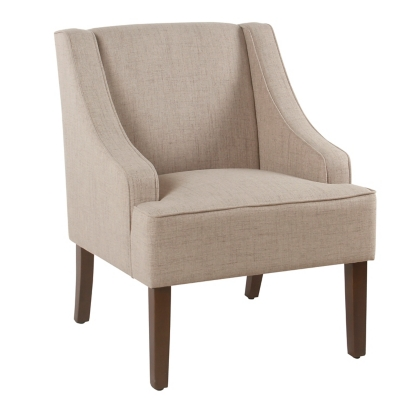 Classic Swoop Arm Accent Chair, Tan, large