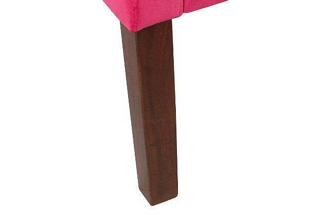Modern Velvet Swoop Arm Accent Chair, , large