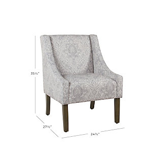 Modern Swoop Arm Accent Chair, Gray, large