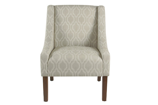 Modern Swoop Arm Accent Chair, , large