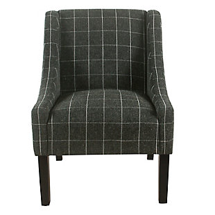 Modern Swoop Arm Accent Chair, , rollover