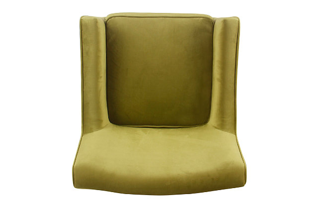Mid-Century Velvet Accent Chair, , large
