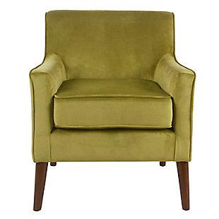 Mid-Century Velvet Accent Chair, , rollover
