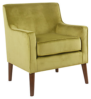 mid century Velvet Accent Chair, , large