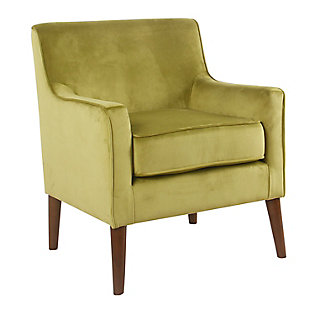 Mid-Century Velvet Accent Chair, , large