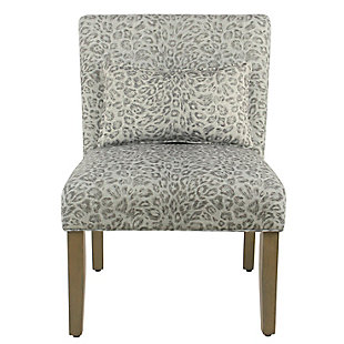 Cheetah Print Accent Chair with pillow, , rollover